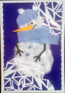Майстер-клас для дітей Листівка зі сніговиком