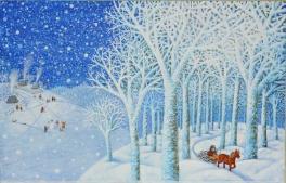 Виставка ілюстрацій Ольги Кваші «Їде грудень на коні»
